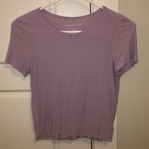 Lavender American Eagle Cropped Shirt